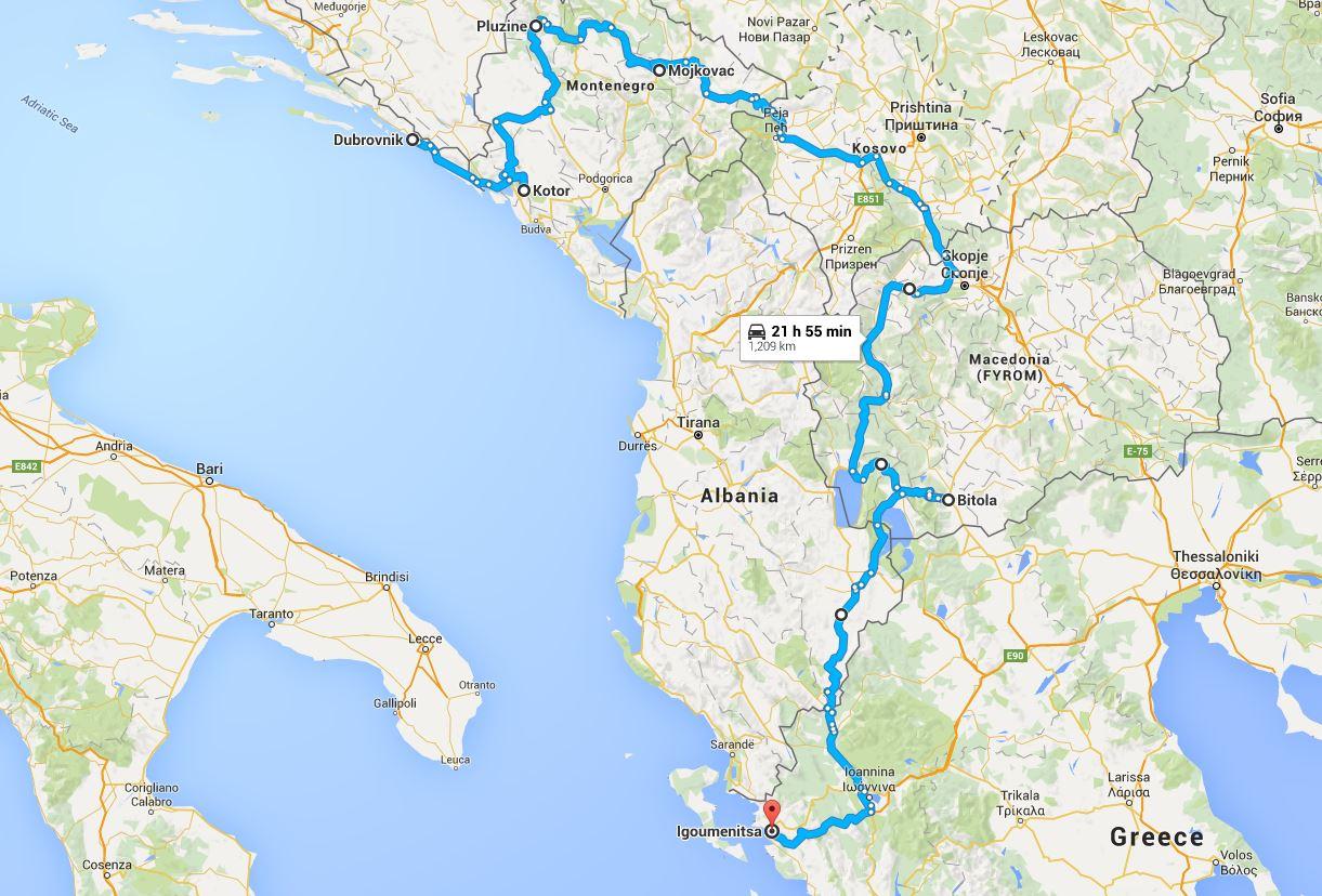 Balkan Motorbike Tour Part 4 Montenegro Kosovo Albania