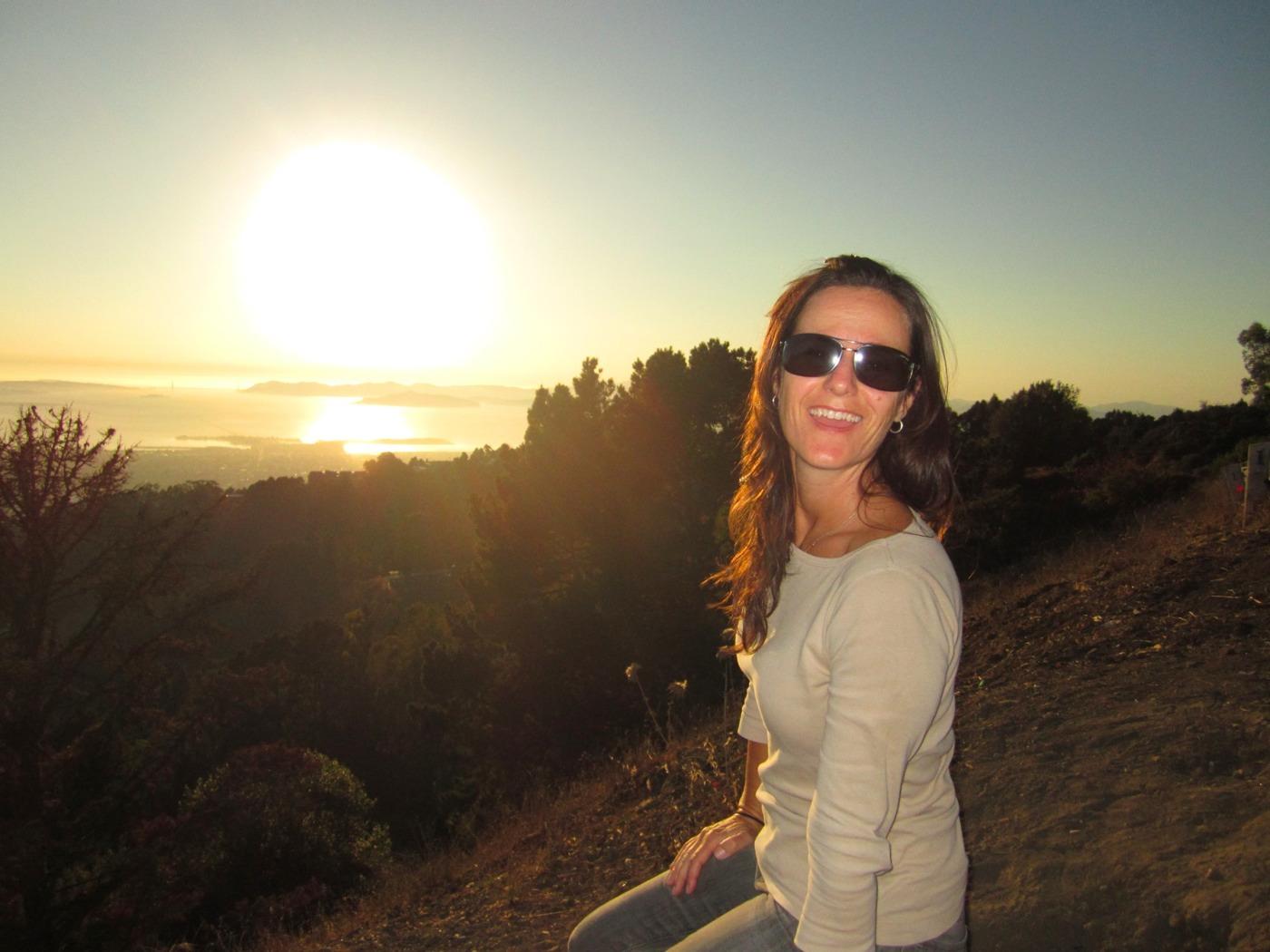 Rebecca Overlooking SF