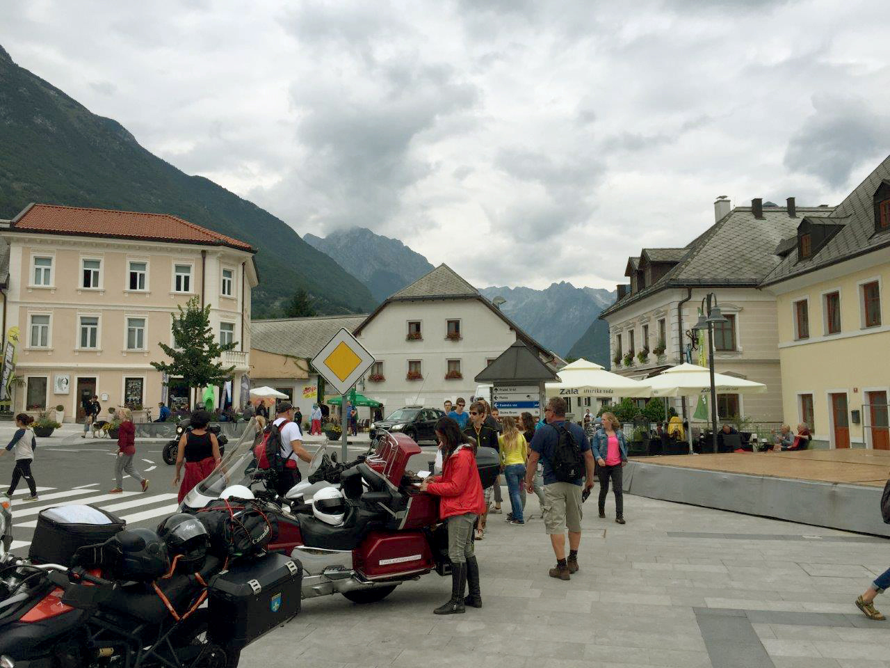 Arriving in Bovec - great parking spot!