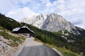 Mountain Hut on Ticarjev Pass in Triglav Slovenia