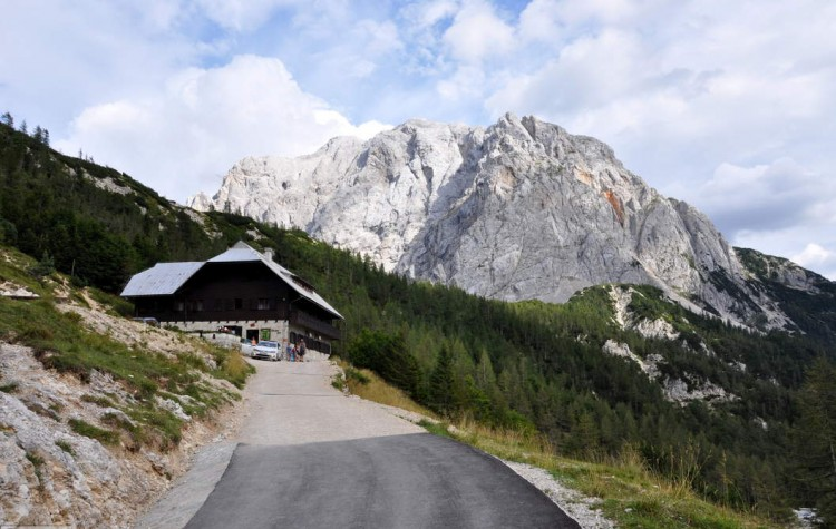 Mountain Hut on Ticarjev Pass in Triglav Slovenia