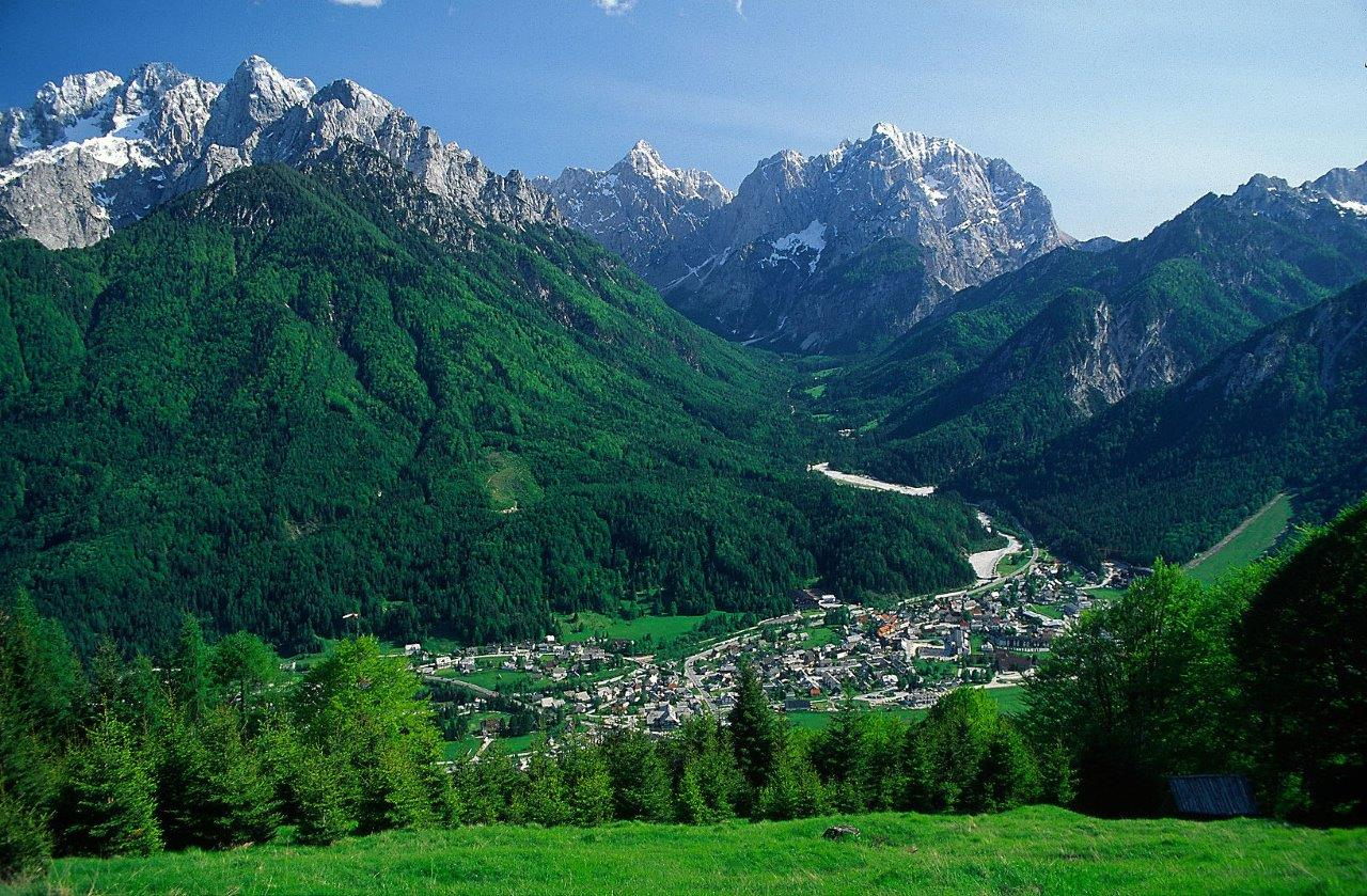 View of the valley of Kranjska Gora