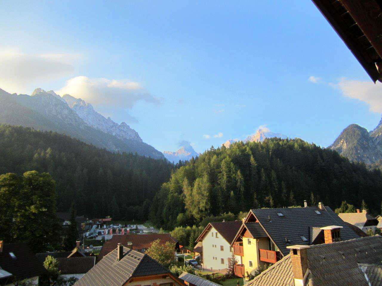 View from our hotel in Kranjska Gora