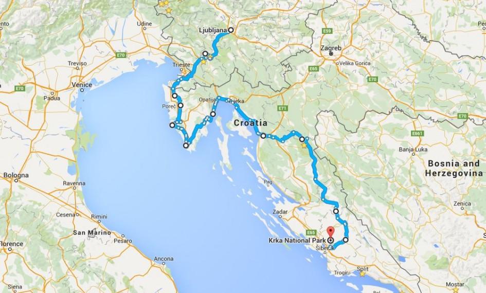 Motorcycle Route through Ljubljana to Plitvice & Krka National Parks