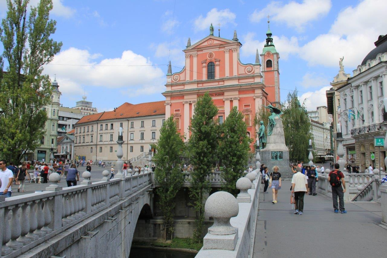 Triple Bridge View in Ljubljana