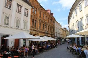 Old town street in Ljubljana