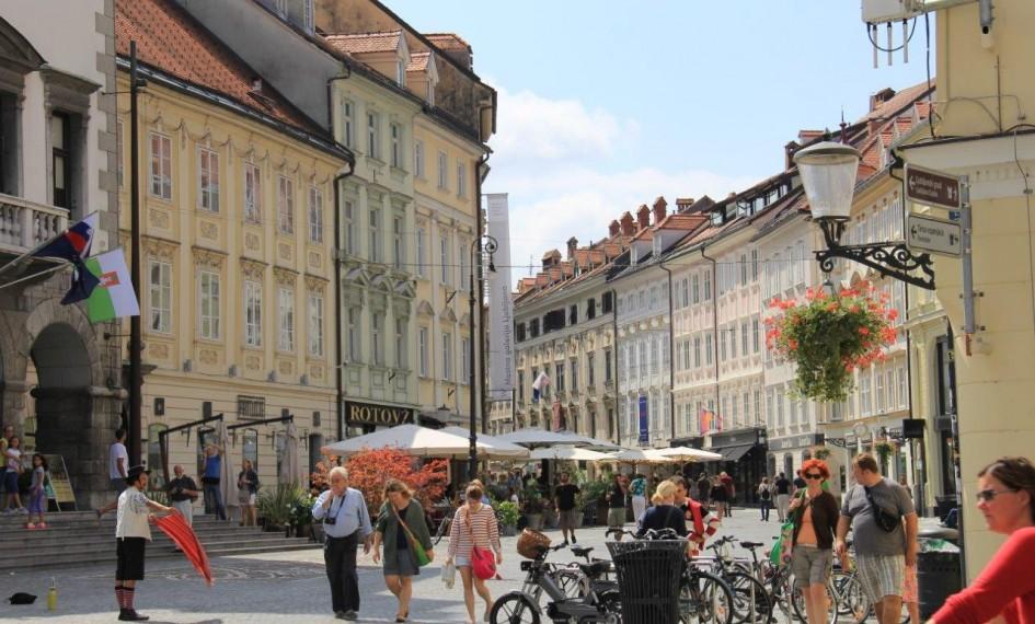 Mestni Trg (Square) in Ljubljana. Slovenia