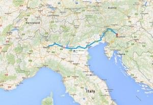 MIlan to Ljubljana