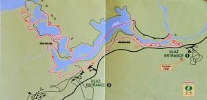 Plitvice Lakes National Park Trail Map C