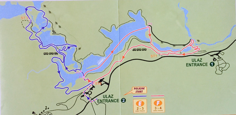 PlitviceLakes National Park Trail Map E & F