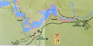 Plitvice Lakes National Park Trail Map K