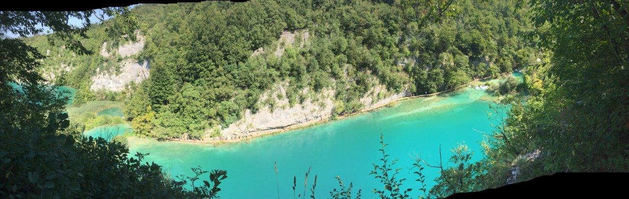 Turquoise waters of the lakes of Plitvice