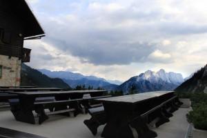 View from Ticarjev Pass in Triglav Slovenia Restaurant