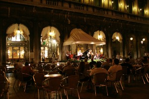 Cafe Florian at Night - Piazza San Marco