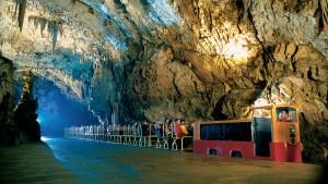 Train into Postojna Caves