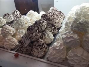 Bergamo Meringues in a Store Window