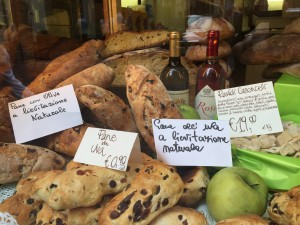 Bergamo Breads in a Store Window