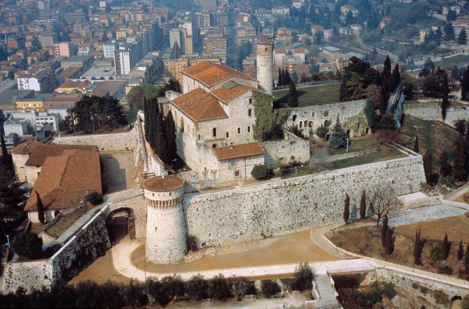 Brescia Castle, Italy Aerial