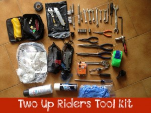 Tool kit we bring for motorcycle maintenance on our trips – TwoUpRiders.