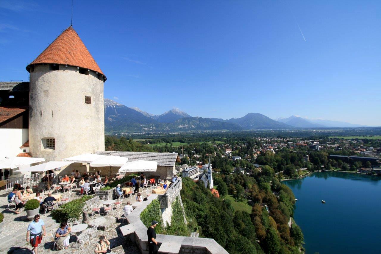 Lake Bled Castle Restaurant Patio