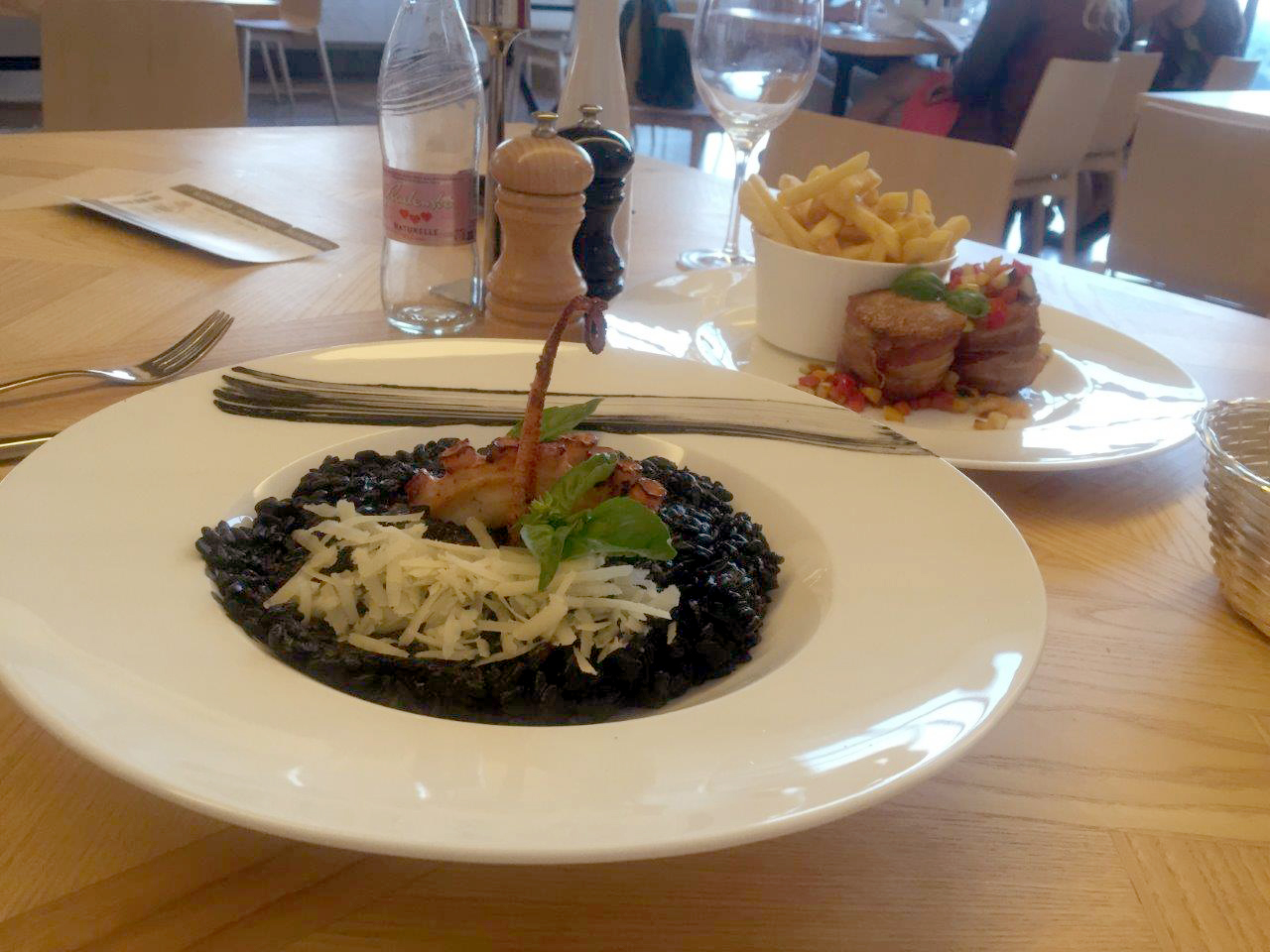 Black Risotto with Octopus at Lake Bled Castle Restaurant
