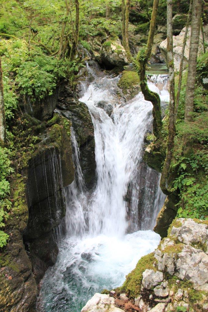 A Soča Valley Waterfall