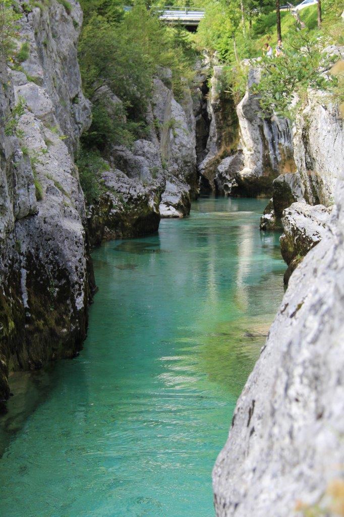 Limestone Gorge in Soča Valley