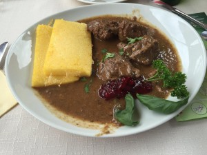 Bovec, Slovenia Hearty Deer Medallions and Polenta