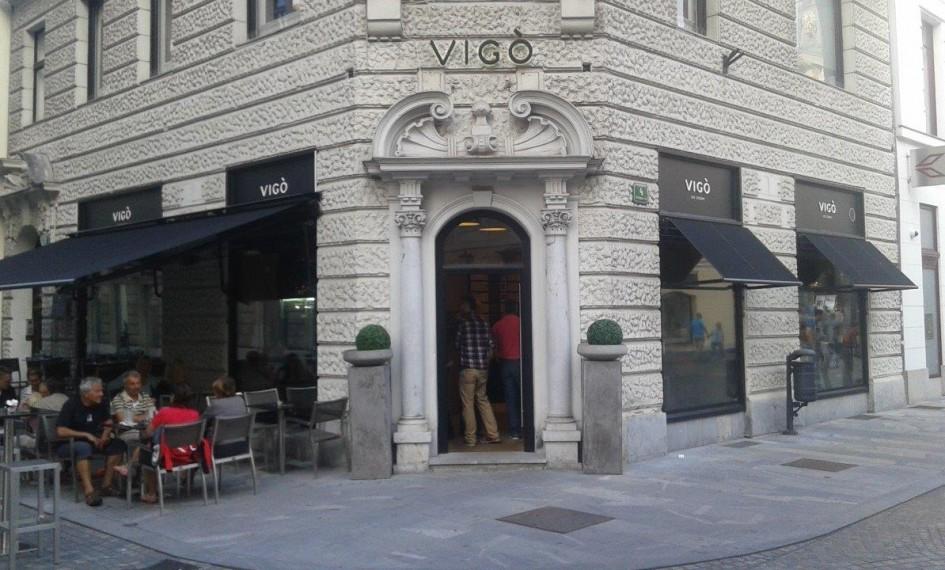 Counter at Vigo Gelateria Ljubljana, Slovenia