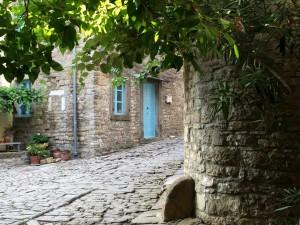 A Blue Door in Groznjan Alley