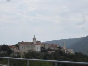 Mountain town of Motovun, Croatia