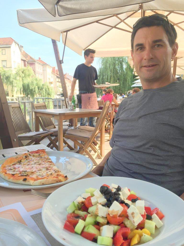 Margarita Pizza in Ljubljana, Slovenia