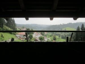 Predjama Castle view