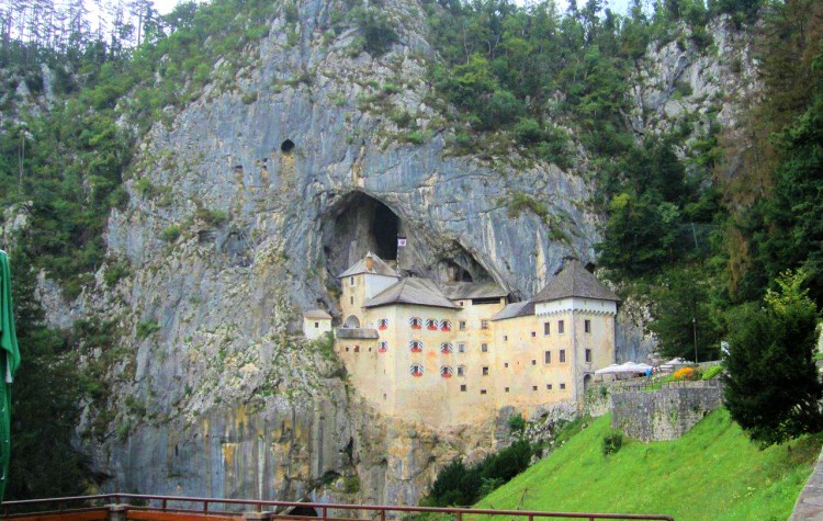Predjama Castle built into a cave