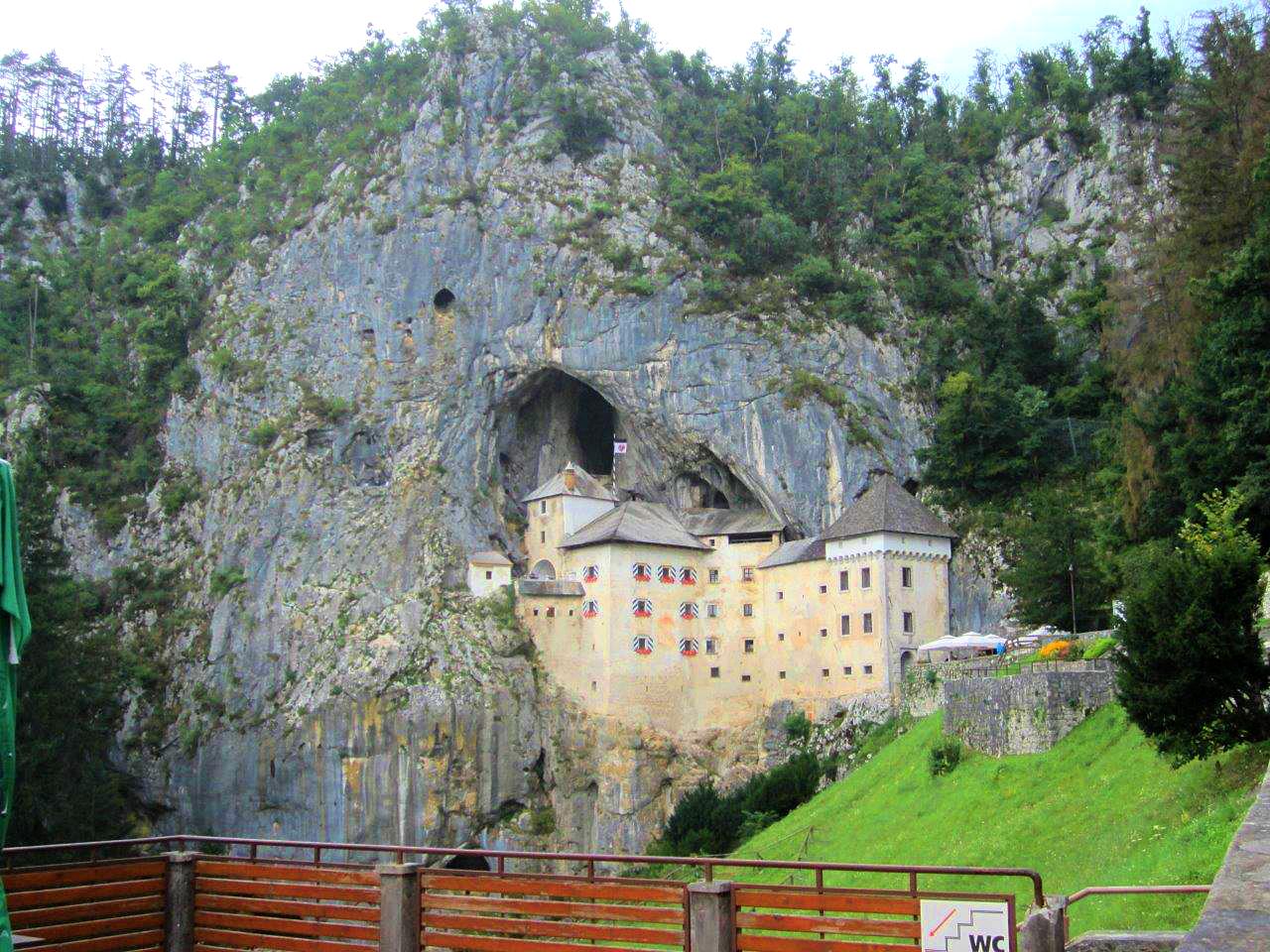 Predjama Castle built into a cave