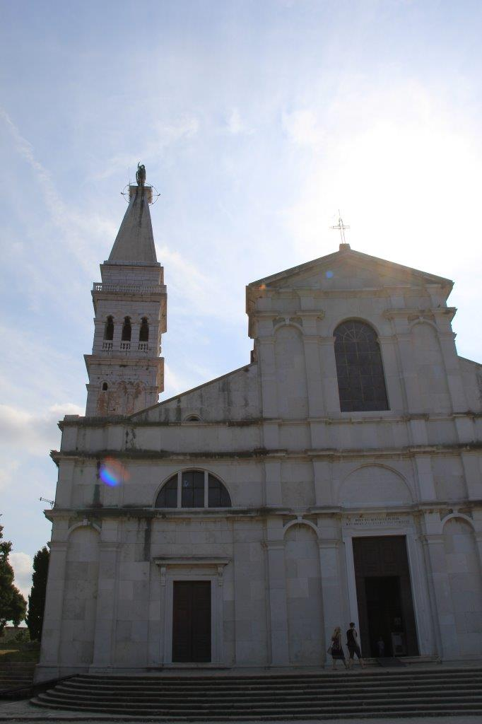 Atop the hill in Rovinj sits this church