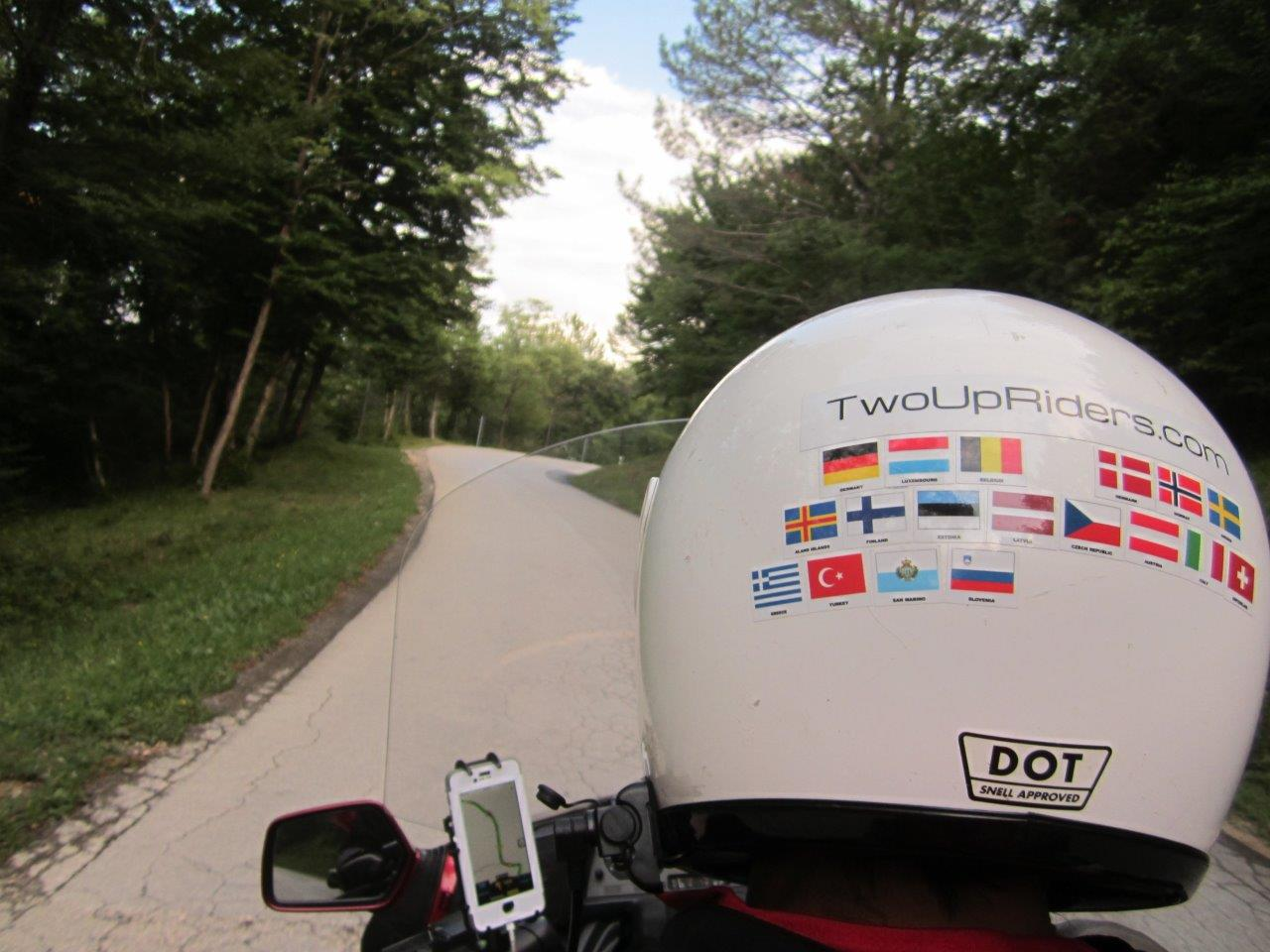 Windy road to Motovun