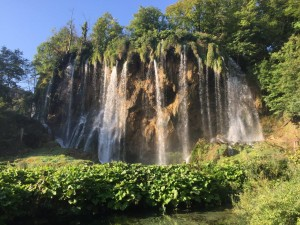 Stunning waterfall of Plitvice