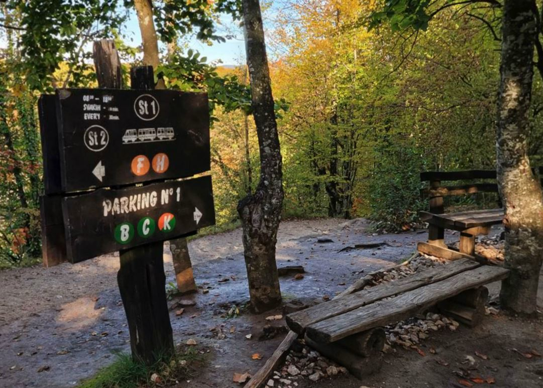 Trail Sign Plitvice National Park