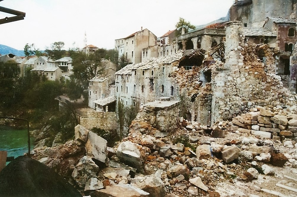 Destruction at Mostar