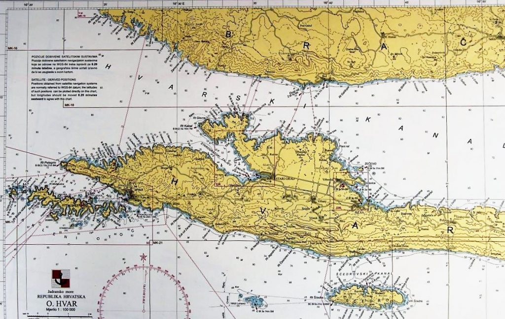 Hvar Croatia Map