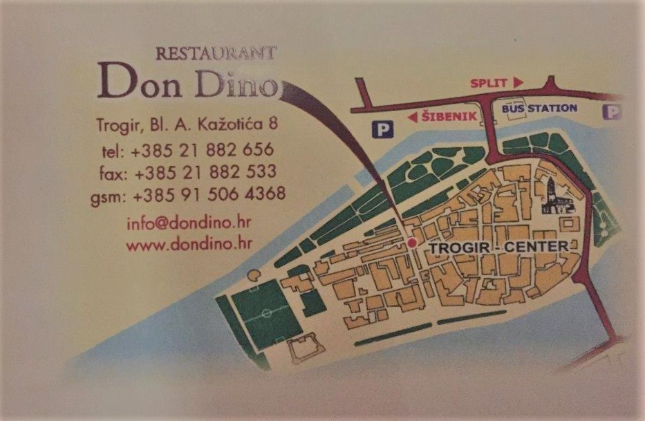 Restaurant Don Dino in Trogir, Croatia