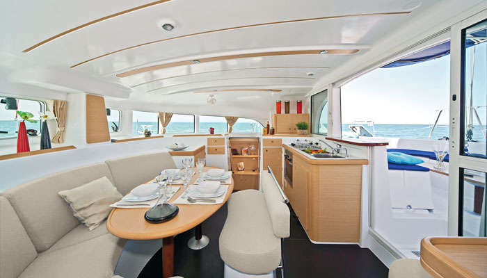 Interior of our boat.