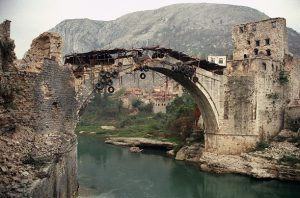 Stari Most during the 1993 war
