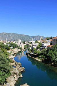 Stari Most and Neretva River