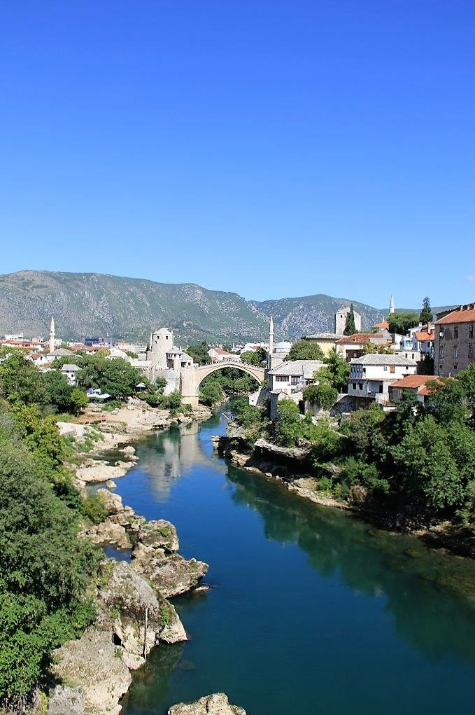 Stari Most and Neretva River