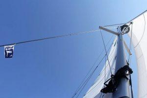Catamaran under sail near Trogir