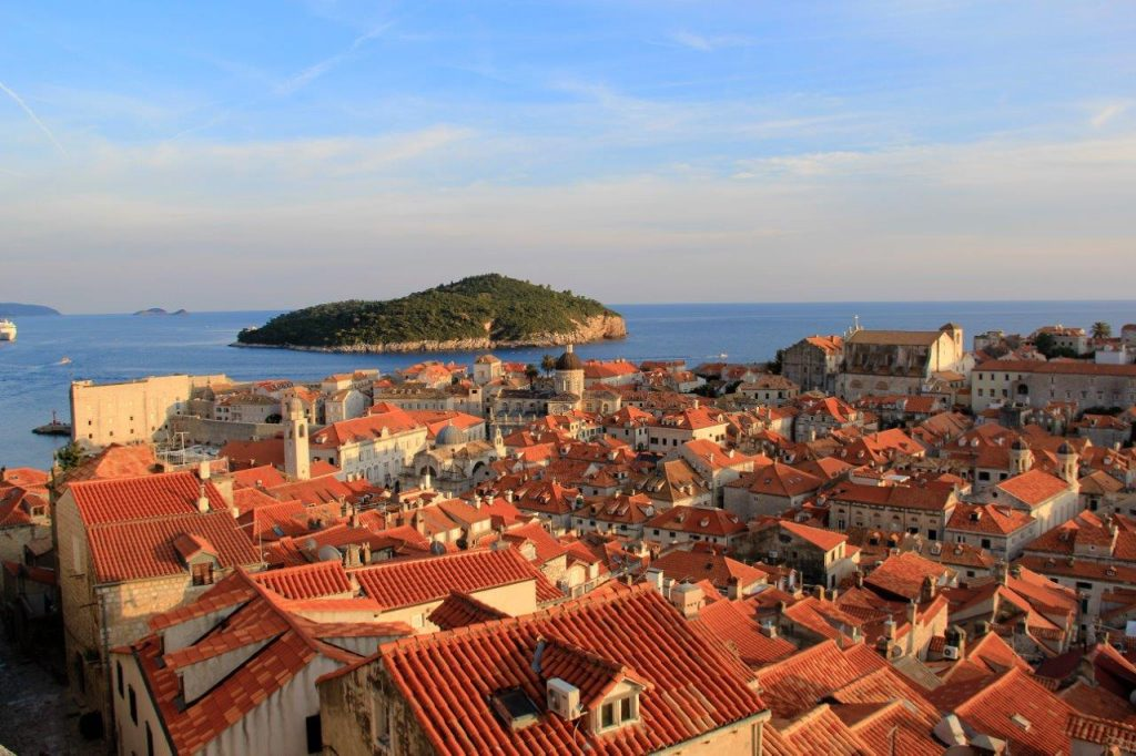 Roof top view of Dubrovnik from Dubrovnik City Walls