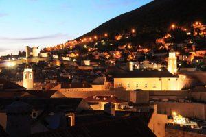 Dusk Dubrovnik City Walls, Croatia