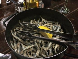 Fried sardines for dinner